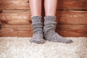 socks and carpet